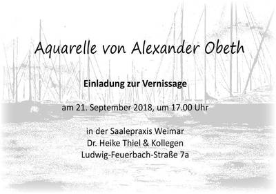 Aktuell: Vernissage in der Praxis am 21.09.2018